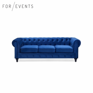 sofa CHESTERFIELD modrá